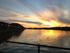 Sunset in Autumn. Picture taken in the Preston Docks Marina, Lancashire (UK)