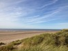 An idyllic day atop a sand dune in Lytham St Annes, Lancashire (UK)