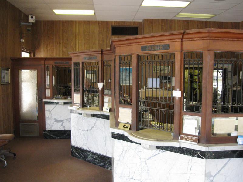 Interior of Oakwood State Bank