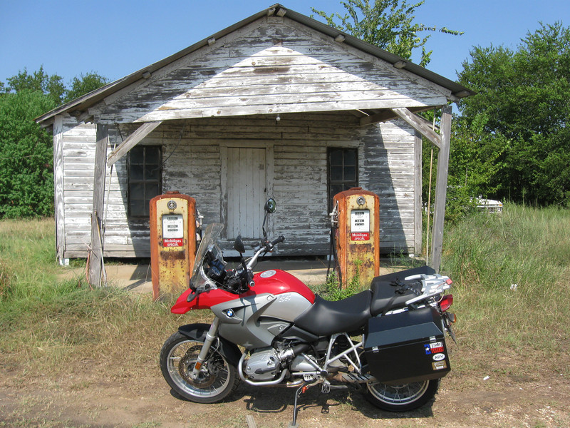 Old gas station, near intersection of FM 1372 and FM 39, a few miles west of Madisonville, TX