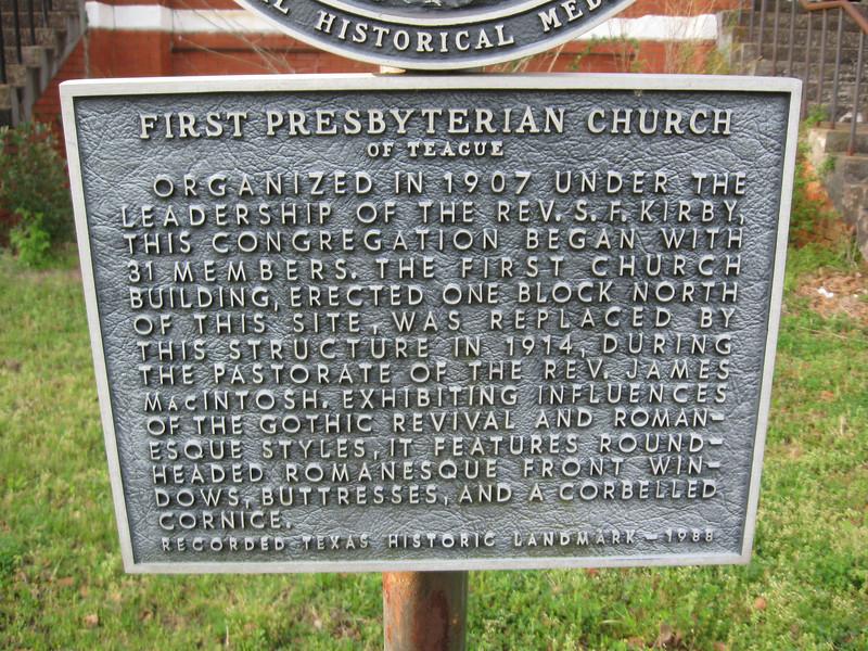 First Presbyterian Church, Teague TX