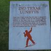 Plaque at 2nd Texas Lunette, Vicksburg NMP, MS.  A lunette is a crescent shaped defensive position.