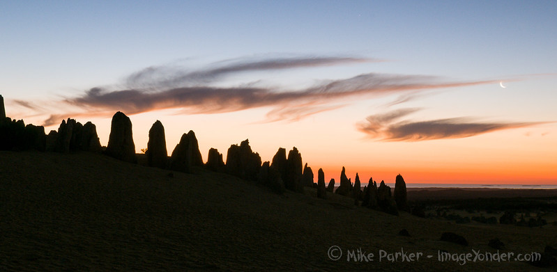 Sunset at the Pinnacles, near Cervantes, Western Australia