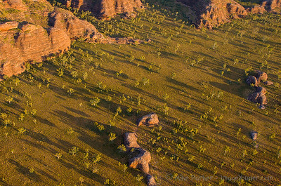 Dawn Shadows in Purnululu