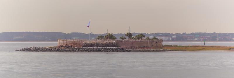 Castle Pickney on Shutes Folly Island