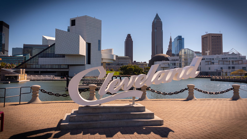 Cleveland Script at North Coast Harbor