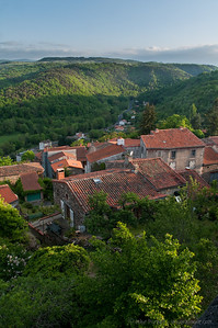 Auvergne village of Montaigut-le-Blanc from its castle