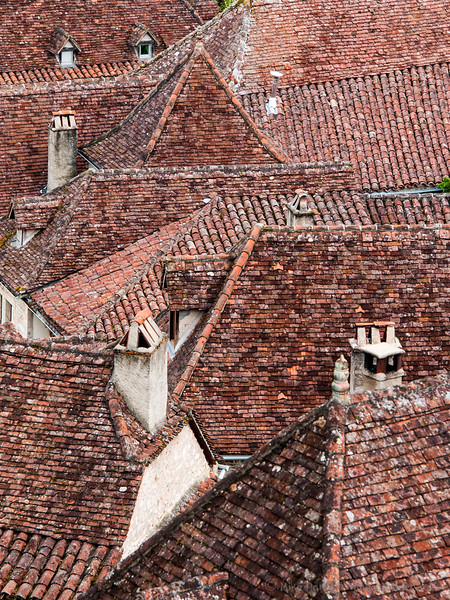 Roof shapes in St Cirq-Lapopie