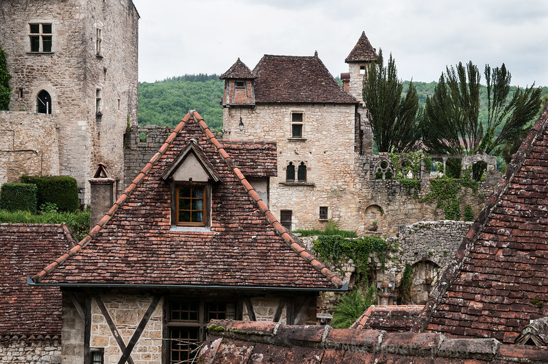 Towers and turrets, St Cirq-Lapopie