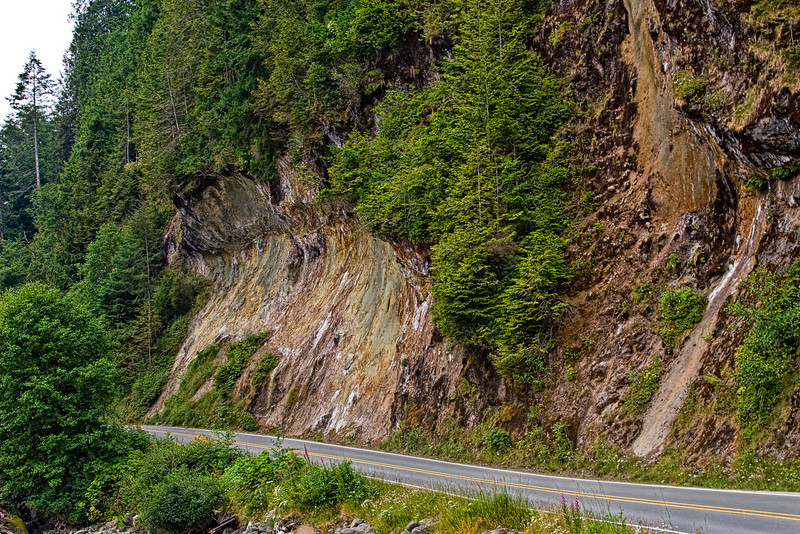 Falling rock zone - road to Makah Nation Reservation.