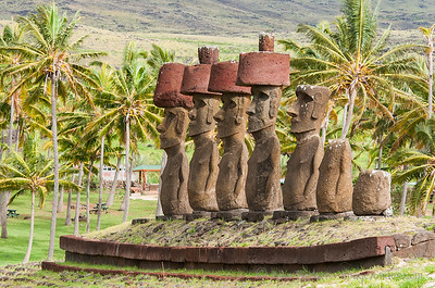 The Moai of Anakena, Easter Island