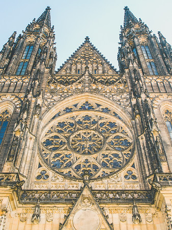 St. Vitus Cathedral, Prague, Czech Republic.