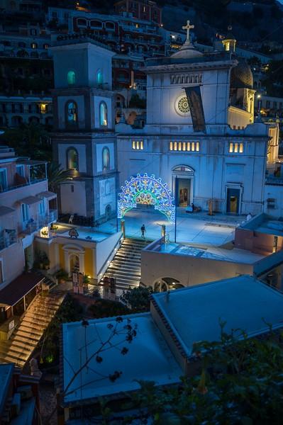 Positano Church at Night