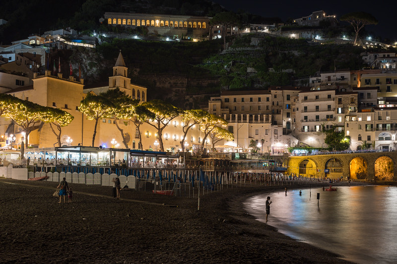 Amalfi from the Beach at Night