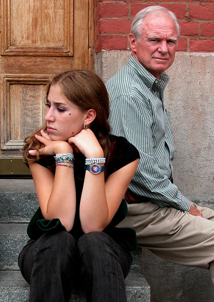 These father and daughter were part of our tour group. The daughtr looks bored.
