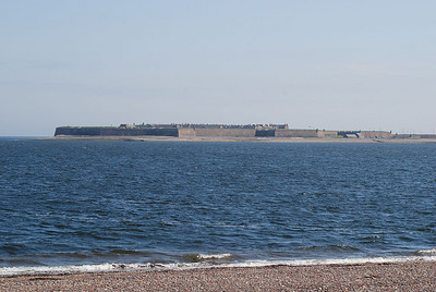 Fort George as viewed across the narrow straits of the Moray Firth from Chanonry Point near Fortrose