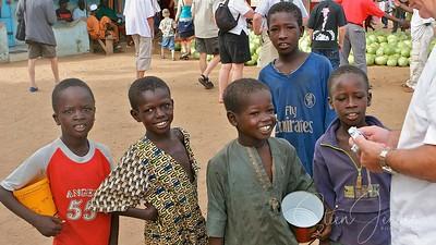 Travel;  Senegal;  Buschen; Marked;  in Senegal;