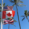 Flags at Napili Surf