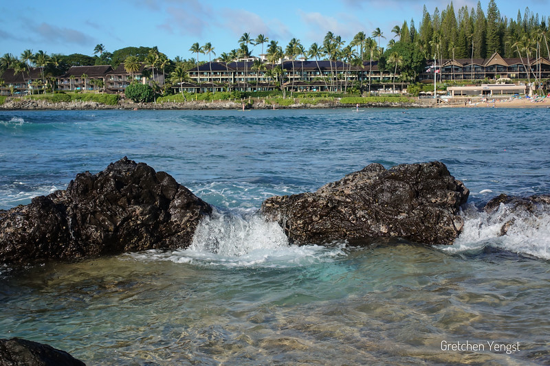 Looking across Napili Bay from the lava pools to the other side ... this is where I go to snorkel and photograph in clear water