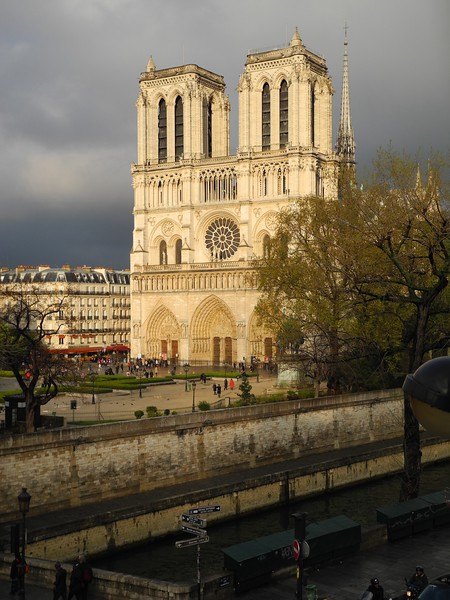 ND2: Here is Notre Dame Cathedral after a rain.  I could see this beautiful centerpiece of Paris across the Seine River from my hotel window.