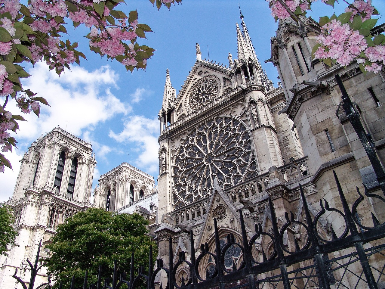 """ND11: Facing South along the Seine River is the famous """"rose window""""  I couldn't wait to see its brilliance from inside."""