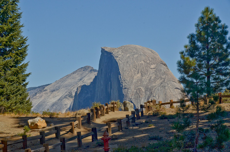 Looks like you could reach out and touch the Half Dome even though it is miles away across the valley.