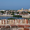 Cartagena - views from the San Castle-fortress to the Old Town