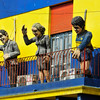 The fun, colorful La Boca area of Buenos Aires - originally the port settlement of Italians from Genoa; now a popular tourist destination with its colorful houses, restaurants and Tango dancers.