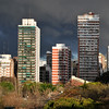 A storm brewing in the early evening - view from our apartment in Buenos Aires