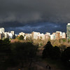 Late afternoon view from our appartment after a rain shower (the 180 degree rainbow doesn't show up in the picture).;