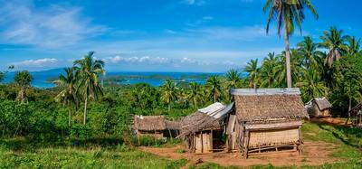A Mangyan village in the hills of Puerto Galera, Philippines.