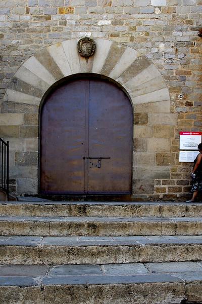 A church side door.