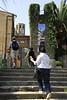 The steps that lead to a passageway towards Monestir de Pedralbes.