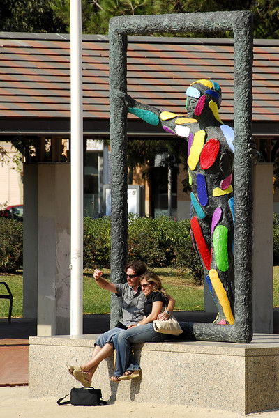 This is one of the sculpture along the Paseo Garcia F.aria