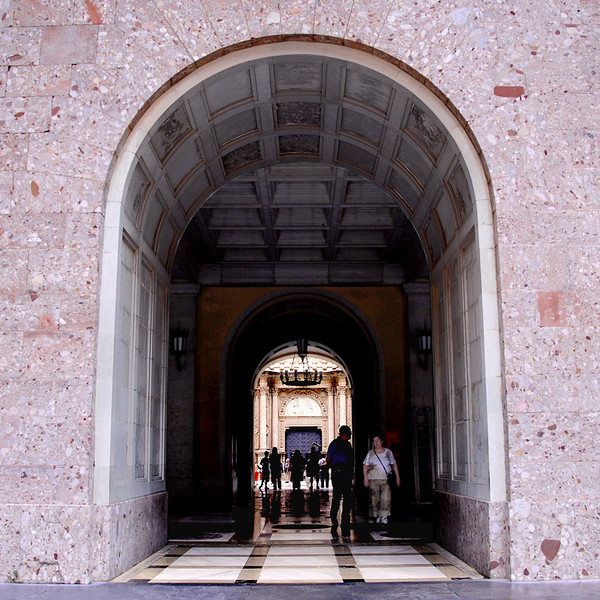 There are three of these doorways that lead to an inner court then to the Basilica entrance seen beyond.