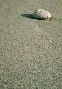 Cobble on coarse sand beach