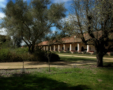 Purisima Mission, California Central coast.  Reconstructed on original site by CCC crews in the 1930's.
