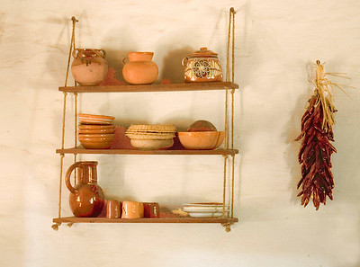 Kitchen shelf La Purisima Mission