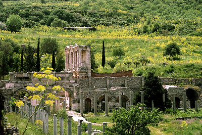 The agora at Ephesus in Turkey