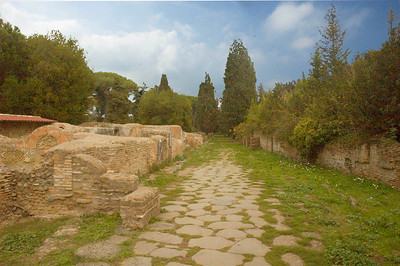 Street in Ostia Antica