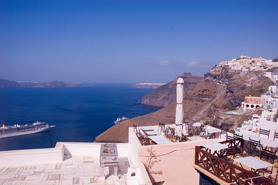 View over the caldera at Santorini