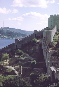 Rumeli Hisar. Castle on the west bank of the Bosphorus north of Istanbul