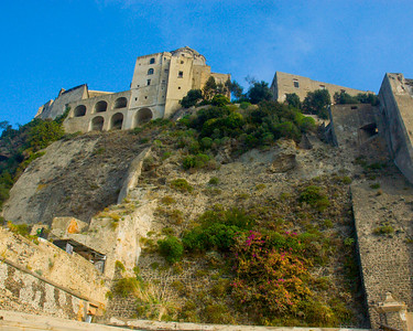 Castello Argonese on the Island of Ischia.  Made up of various buildings from many different periods.