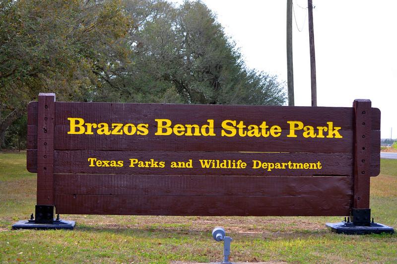 Brazos Bend State Park Entrance