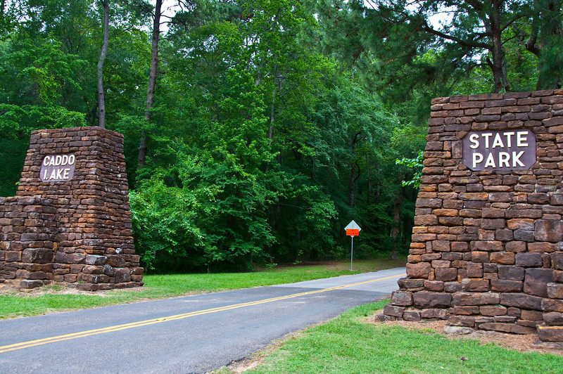 Caddo Lake State Park entrance
