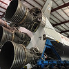 A peak at the F1 engines of the Saturn V rocket