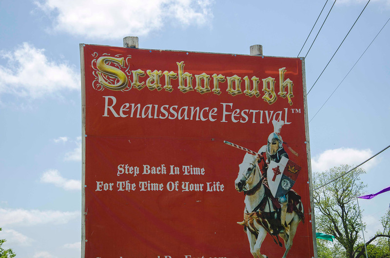 Entering Scarborough Renaissance Festival