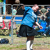 A participant in the Scraborough Highland Games - I believe this dude is tossing a 'hammer'.