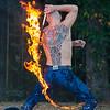Hope that tattoo is flame retardant.