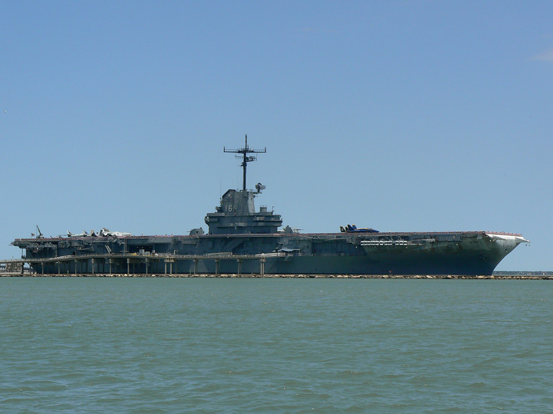 USS Lexington - Seen from Corpus Christi Bay